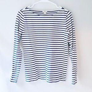 J. Crew Navy & White Striped Shirt